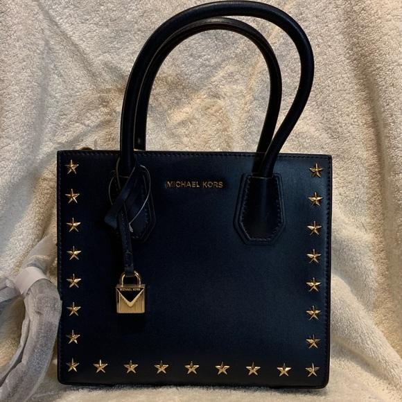 f39c26186dcb Michael Kors Mercer stud grommet Handbag